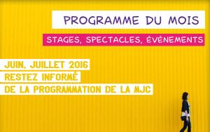 Programme MJC juin juillet