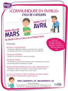 """Ateliers """"Communiquer en Famille"""" @ MJC de Reignier-Esery"""